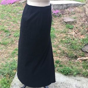 Talbots's suede faux wrap skirt